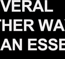 """Other Ways Than Essex"" - TOWIE / The Only Way Is Essex Design [WHITE TEXT] Sticker"