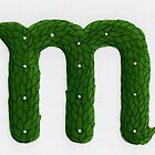 "Topiary Alphabet ""m"" Coloured by Donna Huntriss"