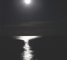 a shy  reflection to a little  moon by AnnaJameson