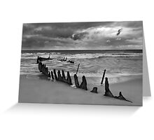 Dicky Beach Wreck Greeting Card