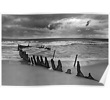 Dicky Beach Wreck Poster