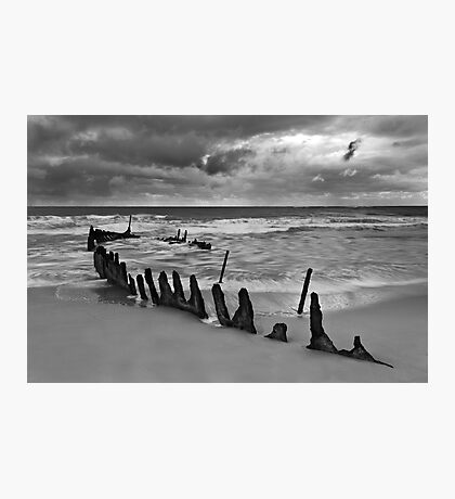 Dicky Beach Wreck Photographic Print