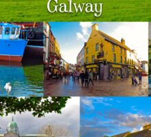 The vibrant city of Galway Sticker