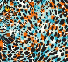 Black & Pastel Tones Camouflaged Leopard Design Sticker