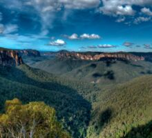 Grose Valley panorama, Blue Mountains Sticker