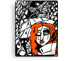 'Rain On Me In The Blackground ~ Orange Distraction' Pieces Art™ Canvas Print