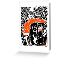 'Rain On Me In The Blackground ~ Orange Eye' Pieces Art™ Greeting Card