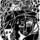 'Rain On Me In The Blackground ~ black on white' Pieces Art™ by Kayla Napua Kong