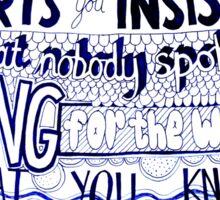 Frank Turner - Pass It Along Sticker