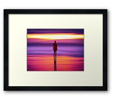 Merseysides Mystical Another Place Framed Print