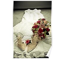 shoes (check), frock (check) flowers(check) bride? Poster