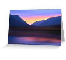 Mountain Dusk Greeting Card