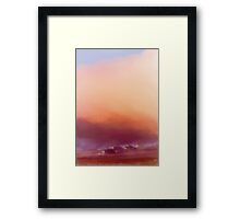 Winter-sun, in Iceland Framed Print