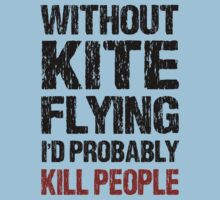 Funny Kite Flying Shirt by DesignMC