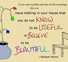 William Morris Illustrated Quote by Char Utton