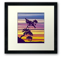 One Tree Hill Sunrise Framed Print