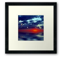 Over the Edge Sunset Framed Print