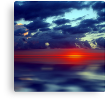 Over the Edge Sunset Canvas Print