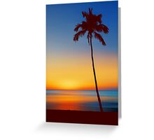 Palm Tree Beach Sunset Greeting Card