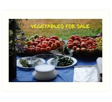 Vegetables For Sale Art Print