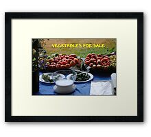 Vegetables For Sale Framed Print
