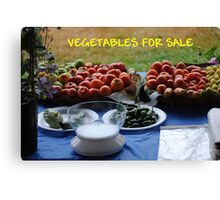 Vegetables For Sale Canvas Print