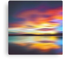 Psychedelic Bedtime at the Lake Canvas Print