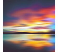Psychedelic Bedtime at the Lake Photographic Print