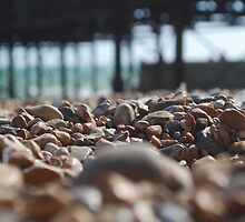Pebbles on Brighton Beach by Geraldine Miller