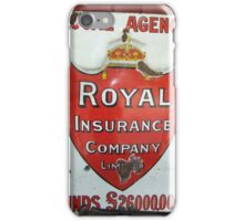 Vintage Royal Insurance Sign iPhone Case/Skin