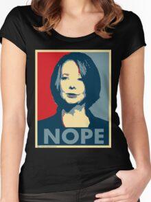 Julia Gillard - Nope Women's Fitted Scoop T-Shirt