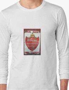 Vintage Royal Insurance Sign Long Sleeve T-Shirt