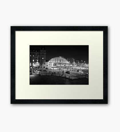 Liverpool Lime Street Night 1 Framed Print