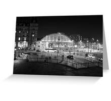Liverpool Lime Street Night 1 Greeting Card