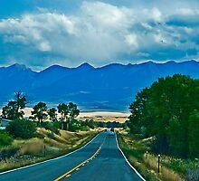 US Highway 89, Heading Toward the Absaroka  Range by Bryan D. Spellman