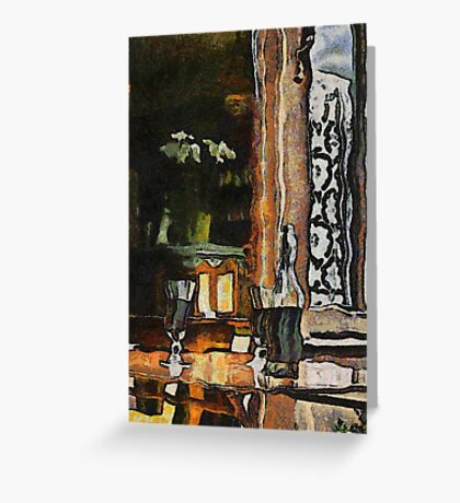 Vincent's table? Auberge Ravoux, France Greeting Card
