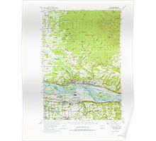 USGS Topo Map Washington Camas 240315 1954 62500 Poster