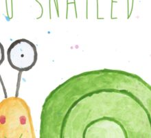 Watercolour Snail - Well Done You Snailed It Sticker