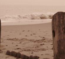 Hornsea with waves crashing Sticker