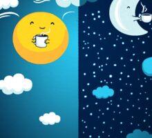 Night and Day Sticker