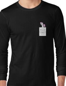 Dumb Fabric - Washing Instructions Long Sleeve T-Shirt