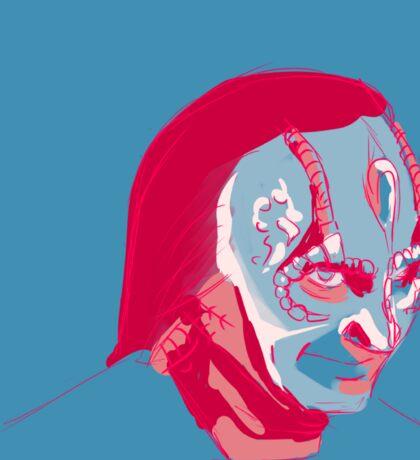 Elim Garak in a limited palette Sticker
