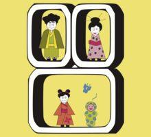 ★ Japanese Family - Japan Spirit Dolls ★ Kids Tee