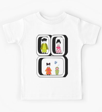 ★ Japanese Family - Japan Spirit Dolls ★ Kids Tee