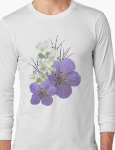Pink and white flowers Long Sleeve T-Shirt
