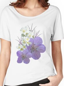 Pink and white flowers Women's Relaxed Fit T-Shirt