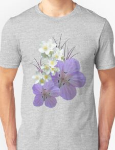 Pink and white flowers T-Shirt