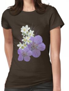 Pink and white flowers Womens Fitted T-Shirt