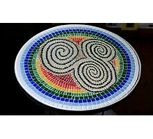 Triskele Mosaic Table Photographic Print