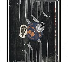 Dada Tarot-3 of Coins by Peter Simpson